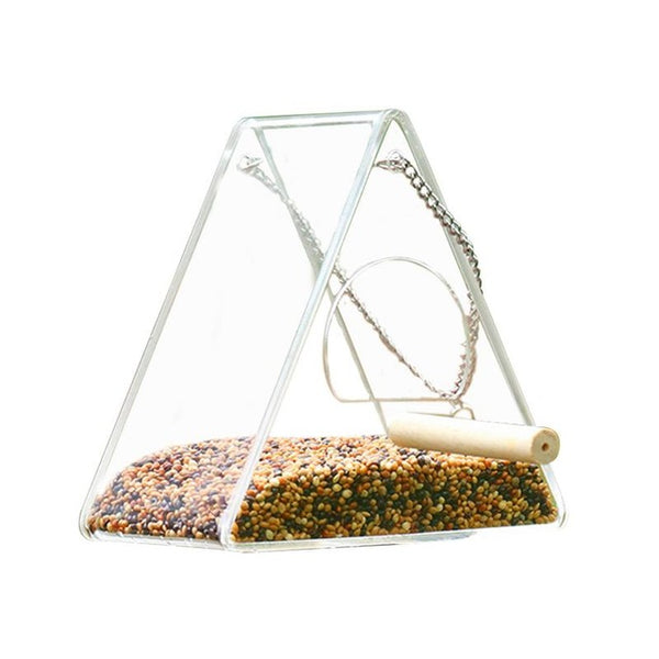 Anti spill bird feeder