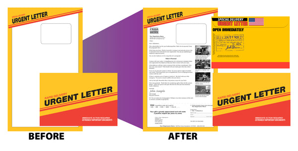 6 x 9 direct mail full service production example