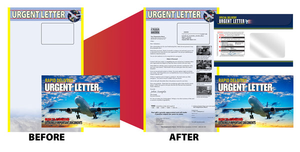 Full service direct mail production example
