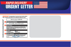Custom printing of 9 x 12 express envelope example