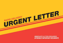 6 x 9 rapid delivery urgent letter envelope example
