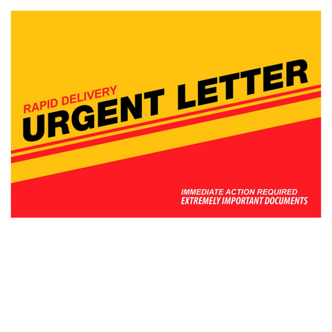 6 x 9 Xpress Envelopes. Urgent Letter Series. XG1008
