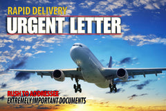 9 x 12 rapid delivery urgent envelope with jet plane example