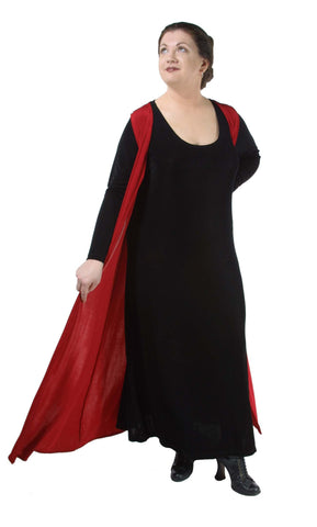Slinky Long Sleeveless Duster - Tasty Tiger - 1