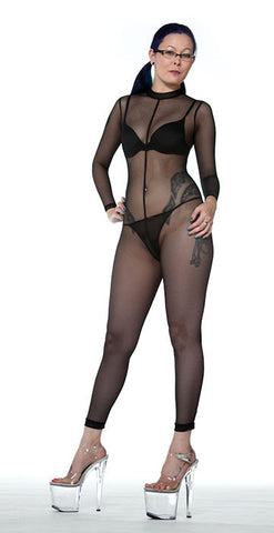 Amazing Nude Mesh Catsuit - Tasty Tiger - 1