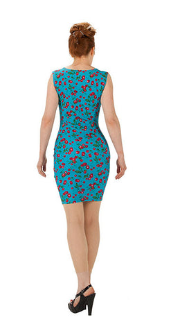 Blue Cherry Dress - Tasty Tiger - 3