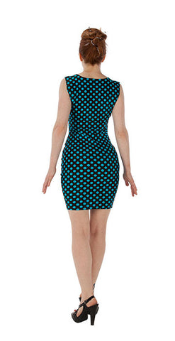 Blue Polka Dot Dress - Tasty Tiger - 2