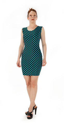 Blue Polka Dot Dress - Tasty Tiger - 3