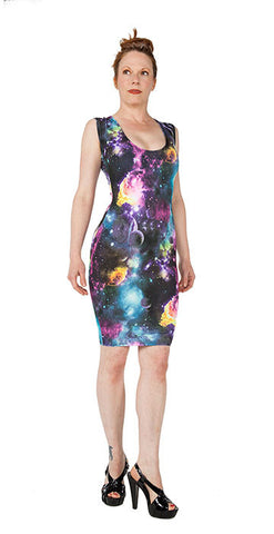 Space Print Dress - Tasty Tiger - 1
