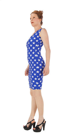 Blue Star Dress - Tasty Tiger - 3
