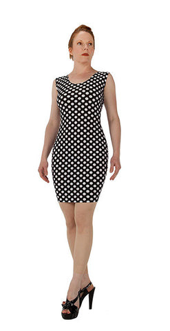 White Polka Dot Dress - Tasty Tiger - 2