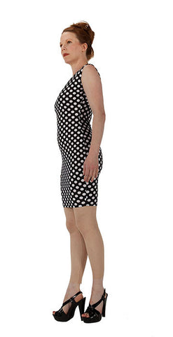 White Polka Dot Dress - Tasty Tiger - 1