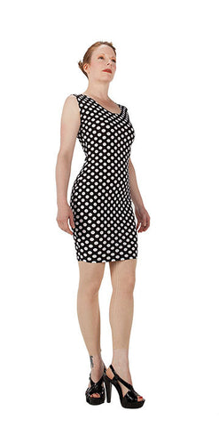 White Polka Dot Dress - Tasty Tiger - 4