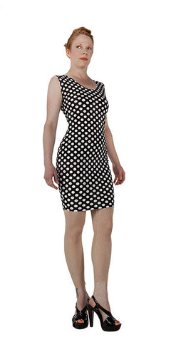 White Polka Dot Dress - Tasty Tiger - 3