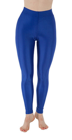 Basic Blue Spandex Leggings - Tasty Tiger - 2
