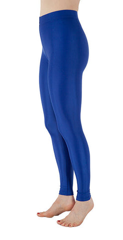 Basic Blue Spandex Leggings - Tasty Tiger - 3