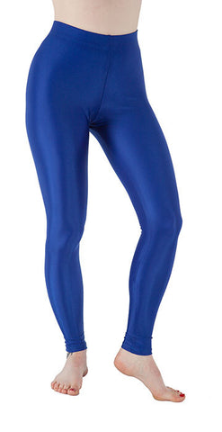 Basic Blue Spandex Leggings - Tasty Tiger - 1