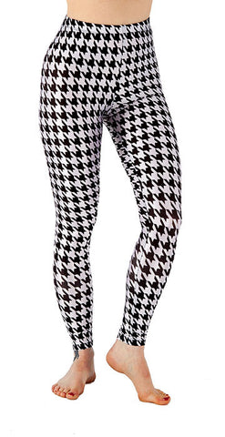 Hounds Tooth Leggings - Tasty Tiger - 1
