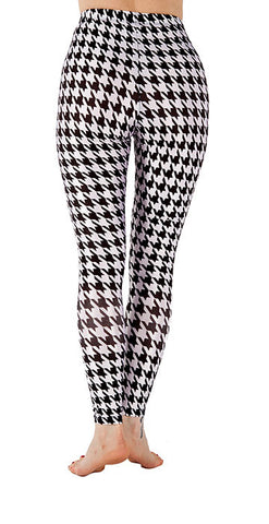 Hounds Tooth Leggings - Tasty Tiger - 2