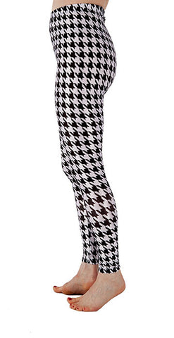 Hounds Tooth Leggings - Tasty Tiger - 3