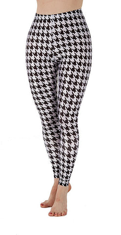 Hounds Tooth Leggings - Tasty Tiger - 4