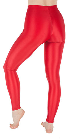 Basic Red Spandex Leggings - Tasty Tiger - 2