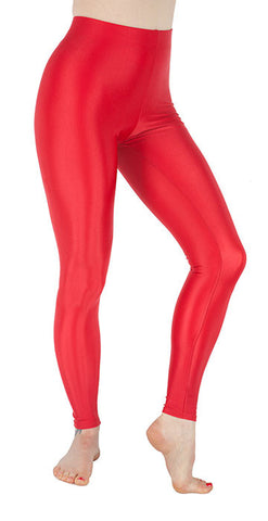 Basic Red Spandex Leggings - Tasty Tiger - 1