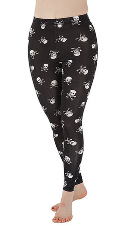 Skull & Crossbones Leggings - Tasty Tiger - 2