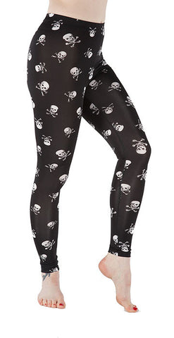 Skull & Crossbones Leggings - Tasty Tiger - 1