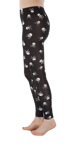 Skull & Crossbones Leggings - Tasty Tiger - 3