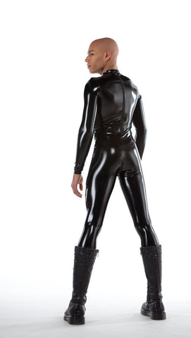 Men's Latex Look PVC Catsuit - Tasty Tiger - 2