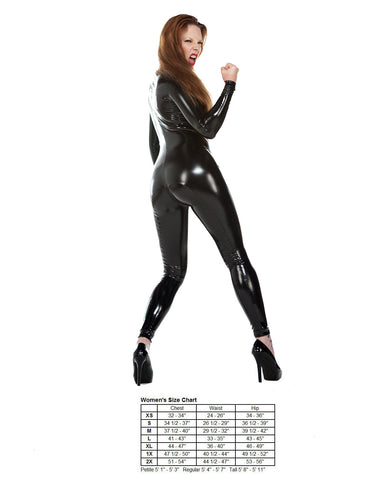 Latex Look PVC Catsuit
