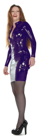 Purple PVC Dress Pre-order - Tasty Tiger - 1