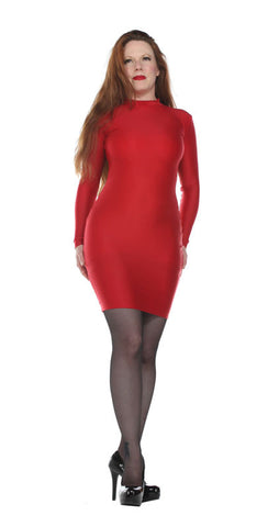 Long Sleeve Spandex Dress - Tasty Tiger - 1