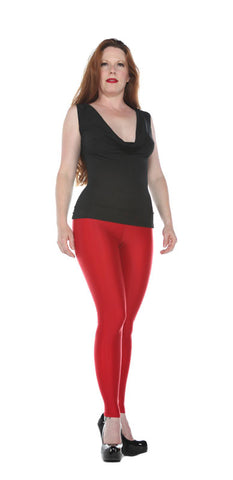 Basic Red Spandex Leggings - Tasty Tiger - 5