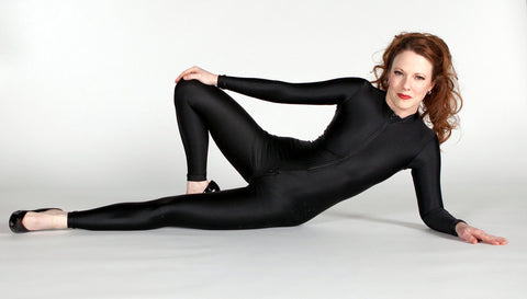 Spandex Back Seam Catsuit - Tasty Tiger - 3
