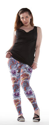 Lady With The Dragon Tattoo... Spandex Leggings - Tasty Tiger - 5