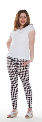 Hounds Tooth Leggings - Tasty Tiger - 5