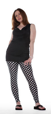 Black and White Dot Leggings - Tasty Tiger - 1