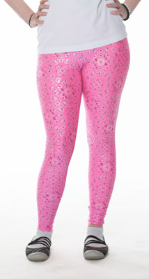 Pink Hankie Print Leggings - Tasty Tiger - 5