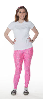 Pink Hankie Print Leggings - Tasty Tiger - 3
