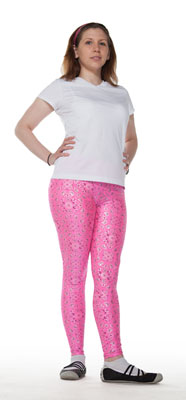 Pink Hankie Print Leggings - Tasty Tiger - 1