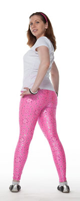 Pink Hankie Print Leggings - Tasty Tiger - 4