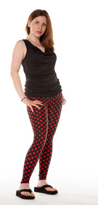 Red Dot Leggings - Tasty Tiger - 1