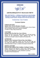 AromaFrequency Massage Package - Vitali-Chi - Pure and Natural