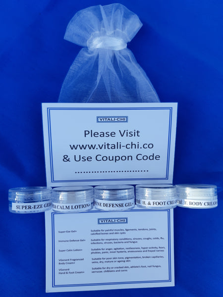 5 * 2ml Sample Pots for just 1p  (when purchased with another item) - Vitali-Chi - Pure and Natural