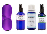 Pillow Spray, Sleep Mask, Spritzer, Lavender and Chamomile Pure Essential Oils - Sleep-EZY Bundle - To Help You Get a Good Nights Sleep - Vitali-Chi - Pure and Natural