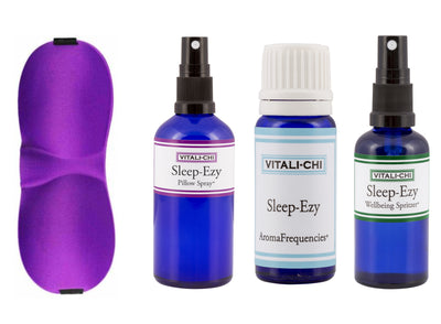 Pillow Spray, Sleep Mask, Spritzer, Lavender and Chamomile Pure Essential Oils - Sleep-EZY Bundle - To Help You Get a Good Nights Sleep