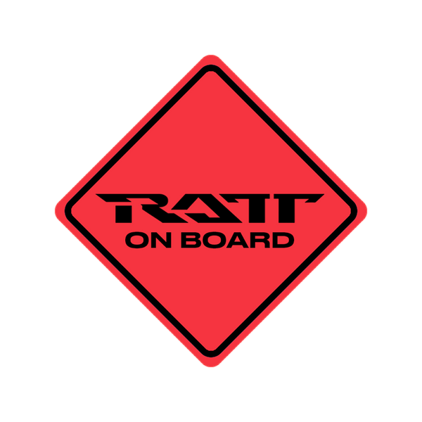 Ratt on Board Bumper Sticker