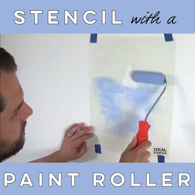 HOW TO STENCIL USING A ROLLER